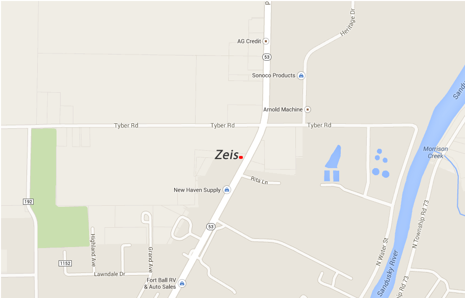 Map to the Zeis Companies